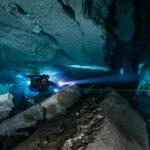 Ординская пещера под водой